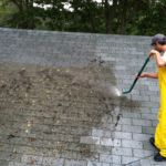 Roofer Cleaning Picture